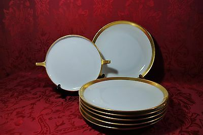 Hutschenreuther Selb Royal Bavaria Hand Painted Stouffer Gold Trim Plate Set