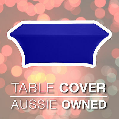 TRESTLE TABLE COVER – Royal Blue | 1.8m SPANDEX LYCRA EASY FIT