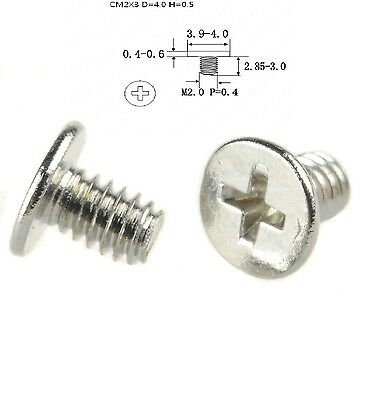 NEW  M2 x 3mm Laptop Phillips Flat Head Screw Nickel Plated