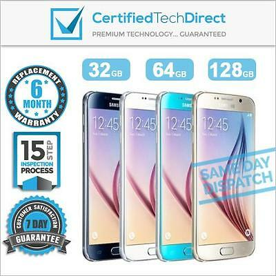 Samsung Galaxy S6 G920i 32GB 64GB 128GB *Refurbished *Unlocked *6 MONTH WARRANTY