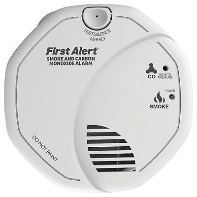 FirstAlert Combination Smoke & CO Alarm Carbon Monoxide Detector Battery Powered