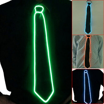 Flashing LED Light-Up Neck Ties Striped Luminous Party Sequins Bowtie