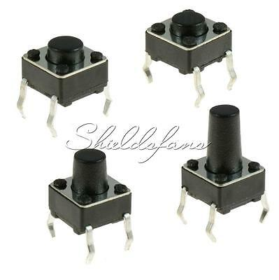 100PCS SPST Mini Micro Momentary Tactile Push PCB Button Switch 6x6 3.1mm-13mm