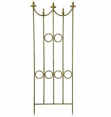 New 50 in. High x 17 in. Wide Metal Garden Accents Decorative Panel Border Fence