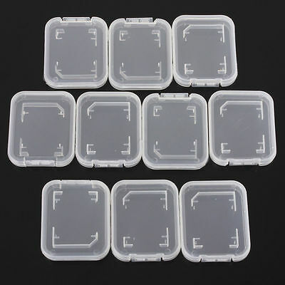 10Pc SD SDHC Memory Card Case Holder Box Storage Plastic Holder Protector Accs