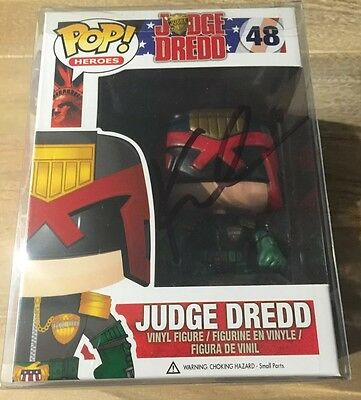 Karl Urban Signed Judge Dredd Funko Pop Vinyl