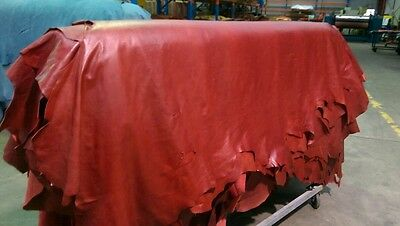 Burnt Orange/ mahogany Red Antique Vintage Aged-Look Whole Cow Hides