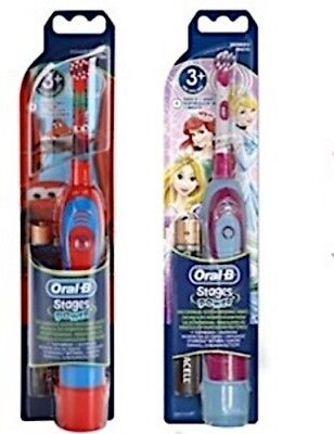 Braun Oral-B Advance Power Kids Battery Toothbrush Disney Cars + Princess 2 Pack