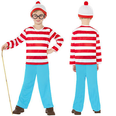 Smiffy's Official Licensed Childs Where's Wally Costume Book Week Fancy Dress