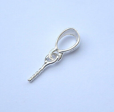 Solid Sterling Silver 925 Pendant Bail Pin  1 - 100 pc