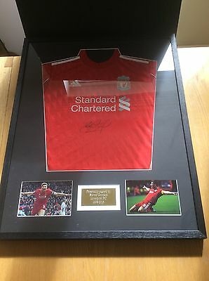 Steven Gerrard Liverpool FC Hand Signed Mounted Shirt