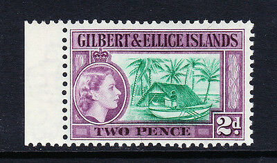 GILBERT & ELLICE 1956-62 2d BLUISH GREEN & PURPLE SG 66a MNH.