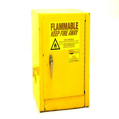 Eagle 1903 Yellow 4-Gallon Self-Closing Flammable Safety Storage Cabinet #1