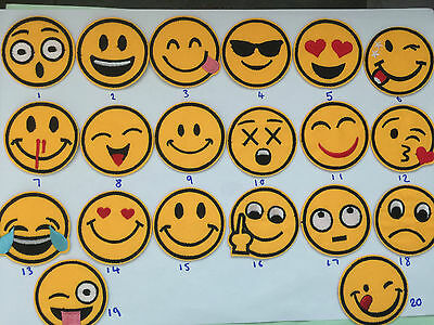 Smiley Face Emoji Iron on Applique Patch