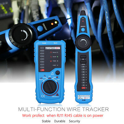 Telephone Phone RJ45 Wire Tracker Ethernet LAN Network Cable Tester Probe Blue