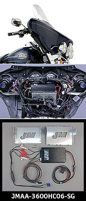 J&M Performance 4 Channel 360 Watt Amp Kit Harley FLHX 06-13 w/4-Front Speakers