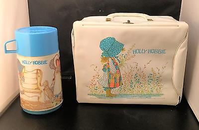 Vintage 1972 Holly Hobbie Vinyl Lunchbox and Thermos American Greetings/Aladdin