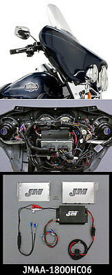 J&M Performance Series 180w 2-ch Amp kit 06-13 Harley Street/Ultra/ElectraGlide