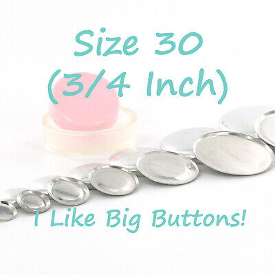 """Cover Buttons // Fabric Covered Buttons 50 Size 45 1 1//8/"""" - 28mm Wire Back"""