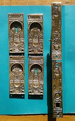 Eastlake Pocket Door Hardware Set /vintage With Key