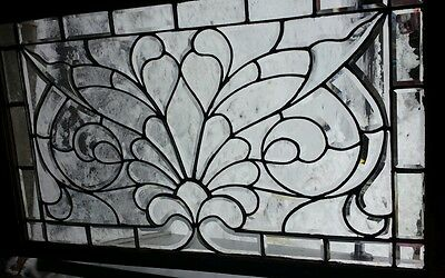 ANTIQUE leaded beveled glass window NICE!!!