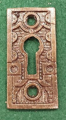 DECOCRATIVE VICTORIAN STYLE KEY HOLE COVERS  CAST IRON  up to 24 available