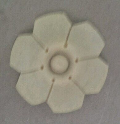 """COMPOSITION/RESIN FURNITURE MOLD!~ SMALL FLOWER ~GREAT DETAIL!  1 3/4"""" diameter"""