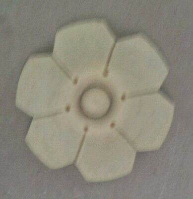 "COMPOSITION/RESIN FURNITURE MOLD!~ SMALL FLOWER ~GREAT DETAIL!  1 3/4"" diameter"