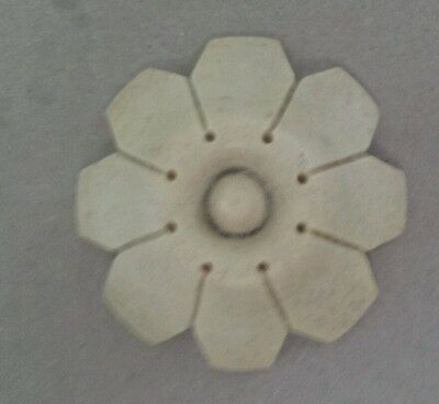 "COMPOSITION/RESIN FURNITURE MOLD!~ LARGE FLOWER ~GREAT DETAIL!  2 1/4"" diameter"