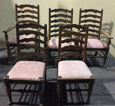 5 Ethan Allen Ladderback Royal Charter Chairs Chair  16-6020