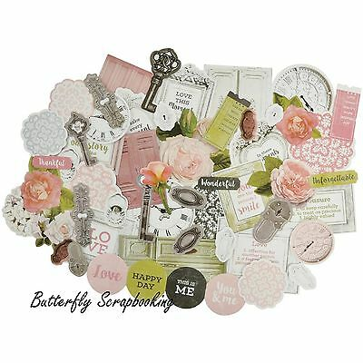 Cottage Rose Collectables Collection Scrapbooking 50 Die Cuts Kaisercraft NEW
