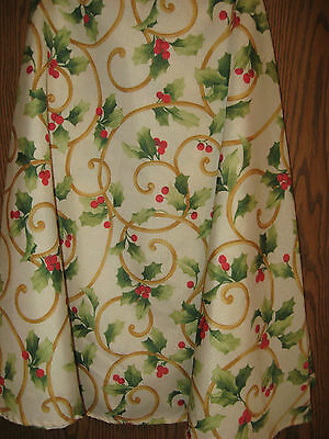 """75"""" Round Tablecloth,  Christmas theme (  holly berries )"""