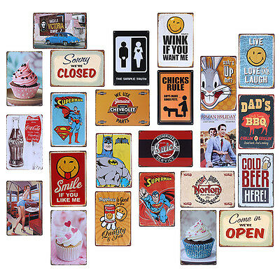Vintage Style Metal Tin Sign Poster Slogan Plaque Bar Pub Club Tavern Home Decor