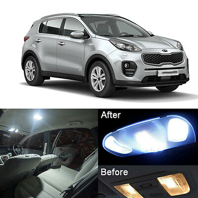 LED Interior Light Kit Xenon White Lamps For Kia Sportage QL 2016-2017 (7x)