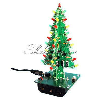 Christmas Trees Led Kit Professional Flash Green Red Led Circuit New IC New