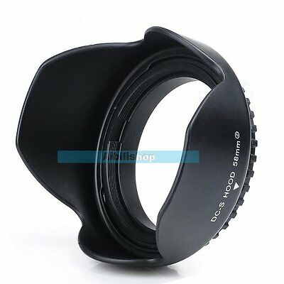 58mm Reversible Petal Flower Lens Hood For Nikon Canon Olympus DSLR Camera【UK】