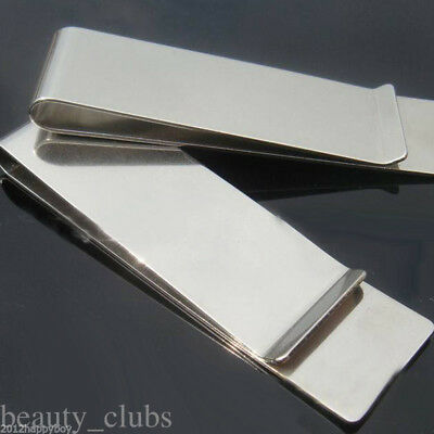 Stylish Mens Stainless Steel Metal Money Cash Wallet Note Thin Holder Clip Gift