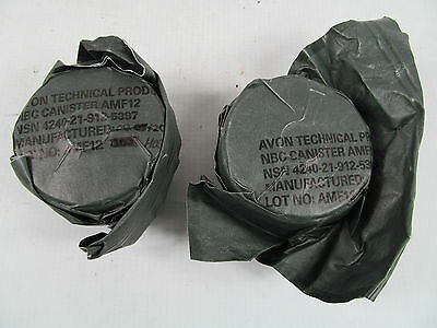 2 New Surplus British Army AR10 S10 FM12 40mm Respirator Gas Mask Filter Filters