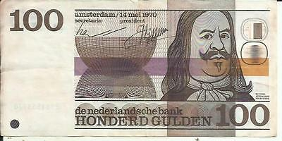 Netherlands 100 Gulden 1970  P 93. Vf Condition. With Tone. 4Rw 28 Set