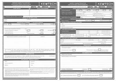 Periodic Electric Inspection Report  A4 Pad -40 Sheets