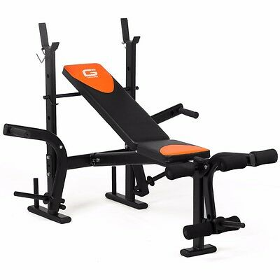 Folding Weight Bench Adjustable Multi Home Gym Fitness Chest Bicep Abs Execise