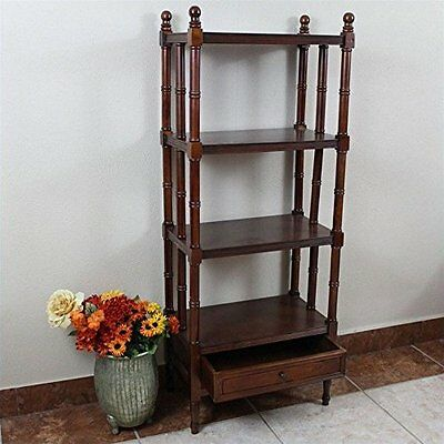 International Caravan Windsor 4-Tier Bookshelf Stain NEW