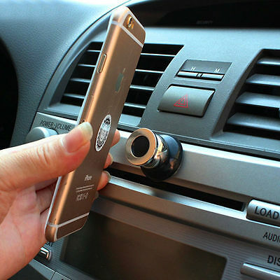 360° Rotation Magnetic Support Phone Navigation GPS Holder Black Car Dash Stand