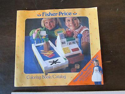 1988 Fisher Price Toy Booklet Catalog Fun with Food Parts Ad Coloring Book Part