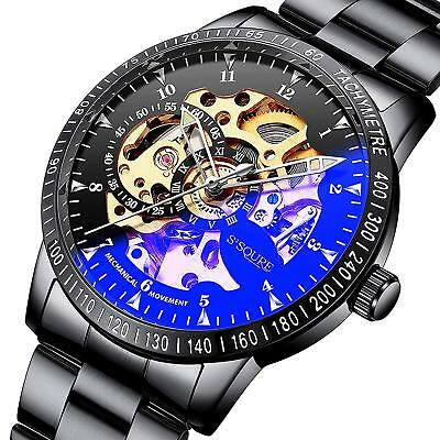 IK Colouring watch skeleton black band Automatic IH009 Men from JAPAN