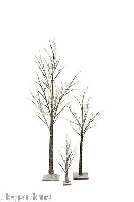 SALE Christmas Light-Up Snow Twig Tree - 3 Sizes With Warm White LED Lights