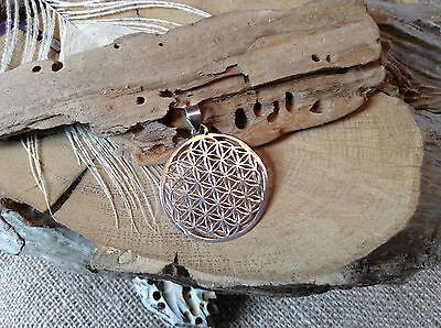 925 Silver Flower of Life Pendant Delicate 34mm ~Sacred Geometry~Reiki~Jewellery