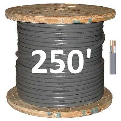 12/2 UF (250') (Underground Feeder) Direct Burial Copper Conductors 3 Wire/Cable