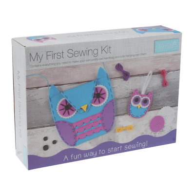 Trimits First Sewing Kit Children's Craft Knitting Project Owls