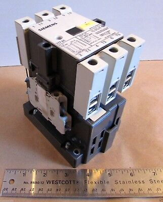Siemens 3TF46 Magnetic Contactor 3 Pole 80Amp 600VAC Coil: 230VDC 50/60Hz